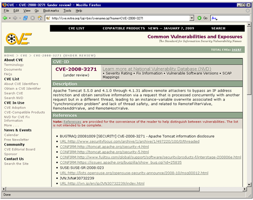 Figure 1. CVE Official Website